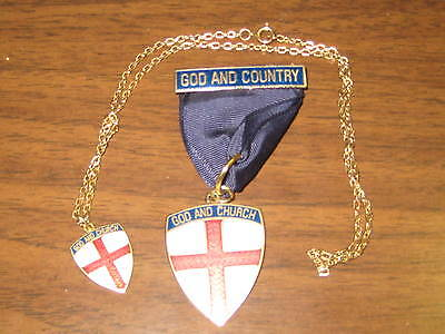 God and Church Medal and Necklace   jk7