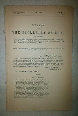 46th Congress 2d Session Message From the Secretary of War Alex Ramsey 1880