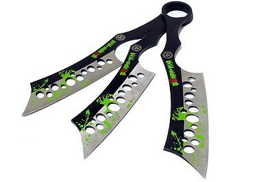 NEW Zombie-War 3 Pc Tactical Combat Throwing Knife Set Zombie Blade