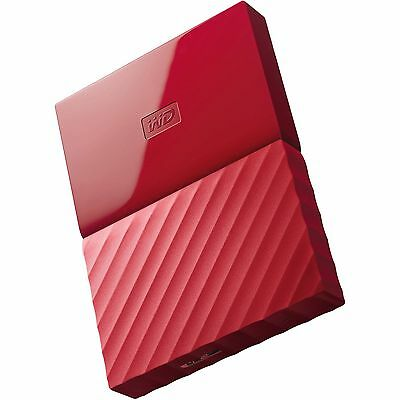Western Digital HDD 1TB My Passport Red USB 3.0 625MB/sec External Hard Drive ct
