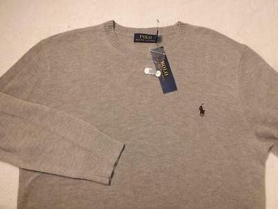 NWT POLO RALPH LAUREN CREW NECK GRAY SWEATER 100% CASHMERE XL Retail $325