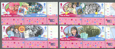 Isle of Man-Girl Guides 2010 mnh set
