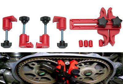 "Dual Cam Clamp Camshaft Timing Sprocket Gear(Dia. 4""-6"") Locking Tool US Ship"