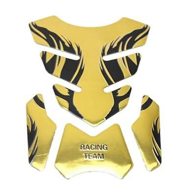 3D Motorcycle Sport Tank Gas Protector Pad Sticker for Honda Phantom Gold