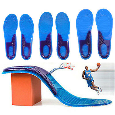 Unisex Silicone Gel Orthotic Arch Support Trainer Sport Shoe Insole Run Pad New