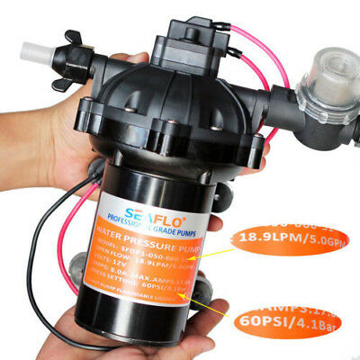 Seaflo 60 PSI Washdown Deck Wash Pump KIT 12v 5.0 GPM for Caravan Rv Boat Marine