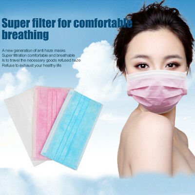 20x Disposable Cleaning Mouth Face Mask Anti-Dust Allergy Flu Respirator Health