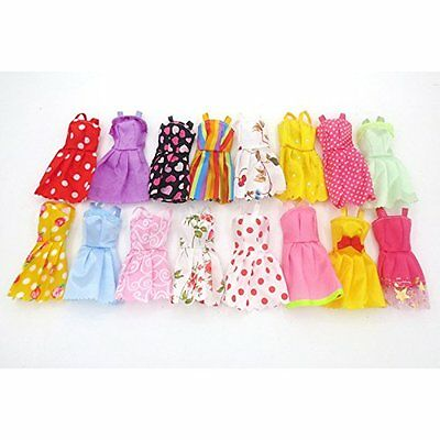 5PCS Handmade Fashion Wedding Dresses Party Gown Clothes Outfits Barbie Doll