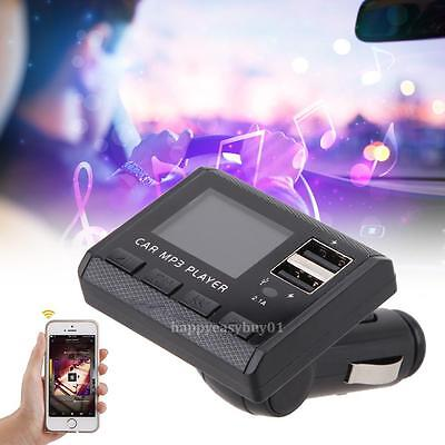 8 in1 Car Music MP3 Player With FM Modulator Transmitter 2.1A Charge remote
