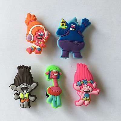 10pcs Trolls cartoon shoe decorations accessories Shoe Charm for croc kids gifts