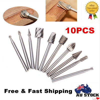 10pcs 3mm Tungsten Carbide Rotary Burrs Set For Dremel Rotary Tools Cutter Bits
