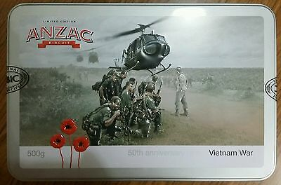 2016 Limited Edition Anzac  Biscuit Tin, 50th anniversary of the Vietnam War.