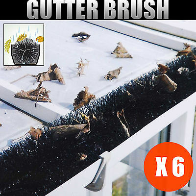 Gutter Brush Leaf Twigs Guard Cleaning Filter Protector 100mm x 6M Black
