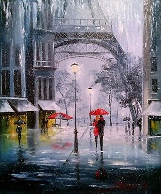 Paris Romantic quality painting Canvas Home decor wall canvas printing