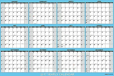 "SwiftGlimpse Wall Calendar 2017, Yearly, 24 x 36"", Horizontal, 12 Months #QI"