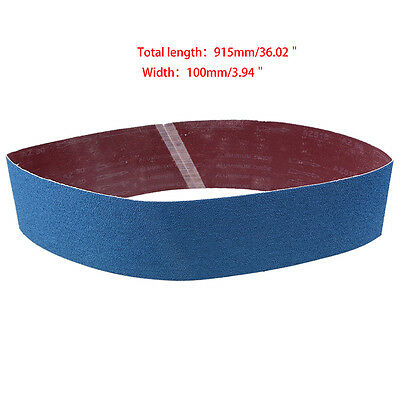 5PCS ! 100 x 915mm Sanding Belts Zirconia P80/120/180/240/320 Quality Sand Belt