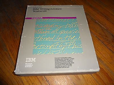 """Vintage IBM WRITING ASSISTANT Word Processor PC Software - 5.25"""" Diskettes 1.01"""