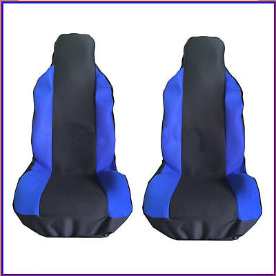 Ferrari 599 (06-12) Front Seat Covers Racing Blue Panel 1+1