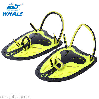 Training Pool Diving Whale Paired Swimming Adjustable Paddles Hand Fins Webbed
