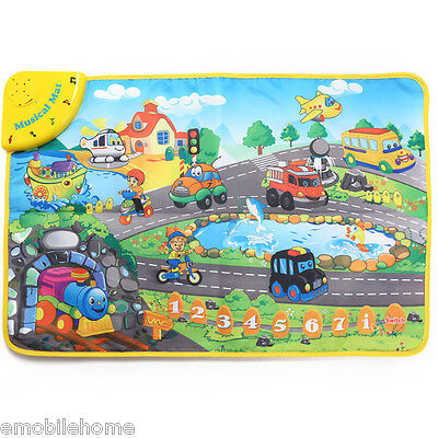 Kids Touch Play Learning Musical Play Mat Toy Educational Singing Carpet