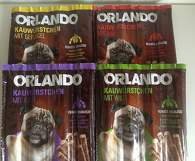 Dog Salami Treats 11g x 32 Chew Sticks MULTIPACK in 4 Flavours like Vitakraft