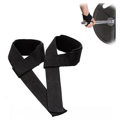 Pair Men Grip Wrist Wraps Weight Lifting Bandage Support Straps Hand Brace
