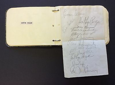 HAWKINS, KRUPA, CALLOWAY, and others (Jazz): 1930s Jazz Autograph Album