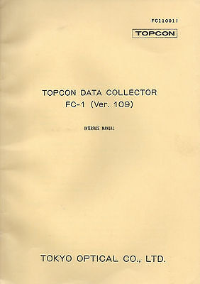 New Topcon Data Collector FC-1 (Ver. 109) Instruction Manual