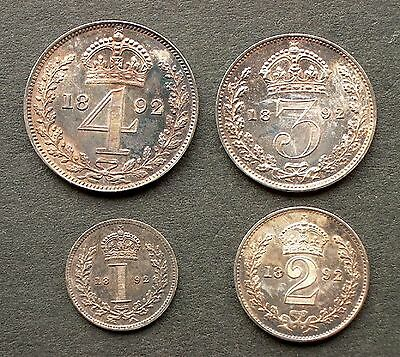 British - 1897  Victoria Old  Head  Four coin Maundy set  Uncirculated and Boxed