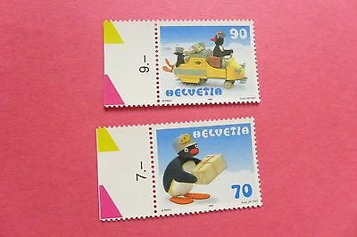 Lot of 2 MNH SWITZERLAND Pingu the Penguin Stamps (1042 in cart)