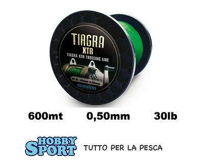 Filo Nylon Traina 600 Mt Big Game 30 Lb Tiagra Xtr Shimano