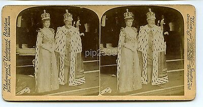 King Edward VII & Queen Alexandra c1900s - Stereoview By Underwood