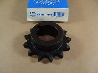 "New Martin 80Bs13 Roller Chain Sprocket 1-15/16"" Id Hub 13 Tooth Asme #80 Pitch"