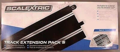 Scalextric 8 X 350 mm Straights Track Extension Pack 5 1/32 C8554