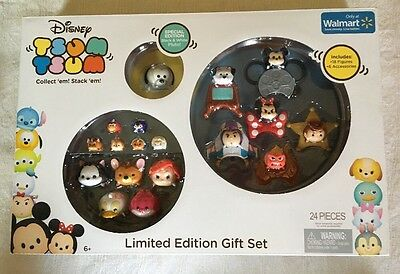Disney Tsum Tsum Figures Limited Edition Gift Set Exclusive Special Pluto New