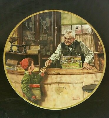 Norman Rockwell Fine China Limited Edition Collectible Vintage Decorative Plate