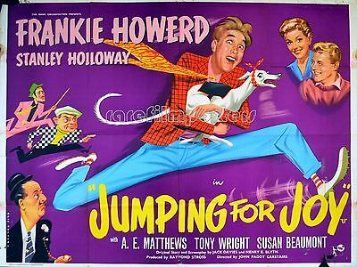 JUMPING FOR JOY 1956 Frankie Howerd, Stanley Holloway - ERIC PULFORD QUAD POSTER