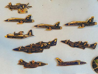 Lions Club Blue Angels Pin Set Of Seventeen El Centro