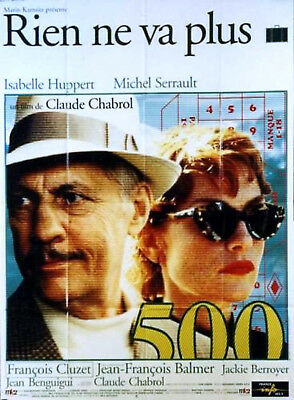 SWINDLE 1997 Isabelle Huppert, Michael Serrault - Claude Chabrol FRENCH POSTER