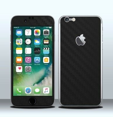 Pellicola Skin Wrap Adesivo Apple iPhone 6 / 6s Carbonio Nero / Black Carbon