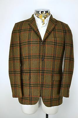 "DAKS 3 Button Hacking Jacket size 38"" Regular Gamekeeper Check Blazer"