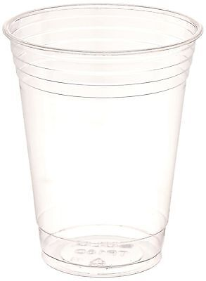 SOLO Cup Company Plastic Party Cold Cups 16 oz Clear 100 pack New