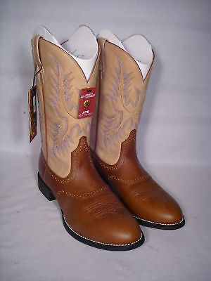 New Brown Ariat Heritage Stockman Western Boot Size 11
