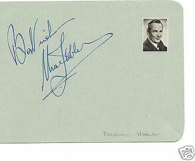 Macdonald Hobley BBC Presenter and actor Hand Signed Vintage Page 6 x 4