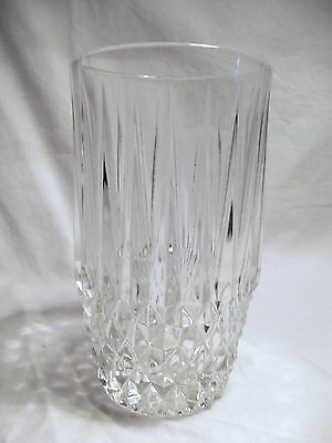 *NEW* Set of 8 vintage FOSTORIA clear CRYSTAL glass STRATTON hiball GLASSES
