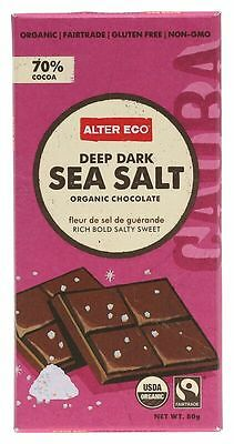 ALTER ECO Dark Sea Salt Chocolate 80g x 2