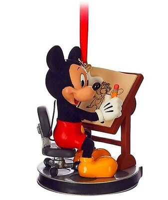 2016 Disney Mickey Mouse Animator Christmas Holiday SKETCHBOOK ORNAMENT