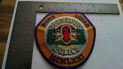 Iowa Police Patch Patches Group I Des Moines Bomb Squad