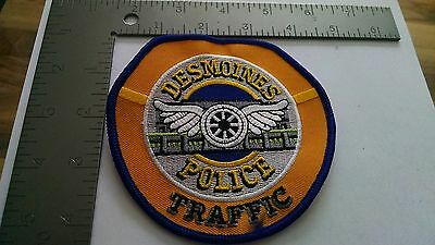 Iowa Police Patch Patches Group I Des Moines Traffic