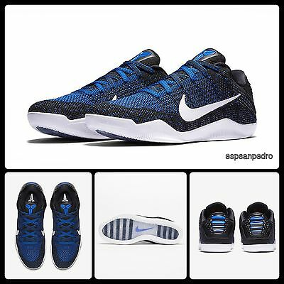 NIKE KOBE XI ELITE LOW SIZE UK 7 BNIB [822675 014]Blck Racer Blue 100% Authentic